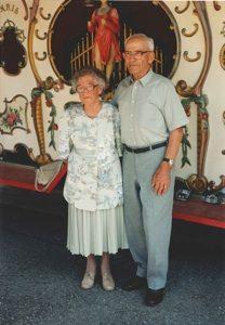 Das Gründerpaar Franz und Sophie Müller anlässlich der Feier zum 60. Firmenjubiläum.